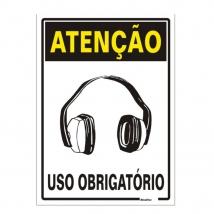 PLACA ATENCAO USO OBRIGATORIO 2