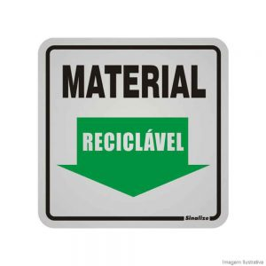 PLACA MATERIAL RECICLAVEL