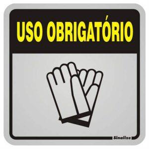PLACA USO OBRIGATORIO LUVAS