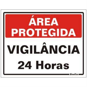 placa area protegida vigilancia 24h