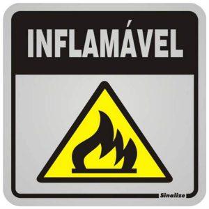 placa inflamavel