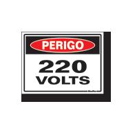 placa perigo 220v